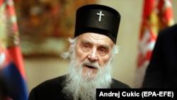 Глава Сербской православной церкви патриарх Ириней.
