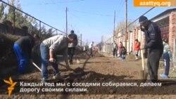 Бездорожье в пригороде Алматы