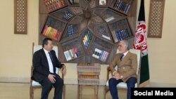 Встреча Абдуллы Абдуллы и Саймумина Ятимова в Кабуле. Фото со странички в Фейсбуке главы Высшего совета национального примирения Афганистана