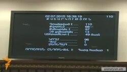 ԱԺ-ն վավերացրեց Ռուսաստանից սպառազինություն գնելու վարկային պայմանագիրը