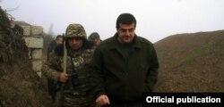 Араик Арутюнян посетил военный фронт, 1 января 2021 года.