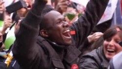 Holland shpall fitoren - pëkrahësit festojnë