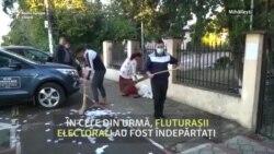 Mihăilești: propagandă electorală în ziua votului