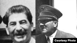 Josef Stalin (left) and Adolf Hitler