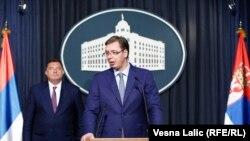 Dodik i Vučić na jednoj od press konferencija u Beogradu, ilustracija