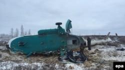 Крушение вертолета в Сибири (архивное фото)