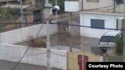 مياه الأمطار تدخل بعض الأبنية في الموصل