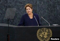 Дилма Русеф на трибуне Генассамблеи ООН. 24 сентября