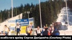 Сяргей Далідовіч на залатым п'едэстале Кубку сьвету 2001 году