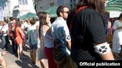 Manifestație de sprijinire a Institutului Cultural Român la festivalul alternativ Street Delivery, Bucureşti, 16 iunie