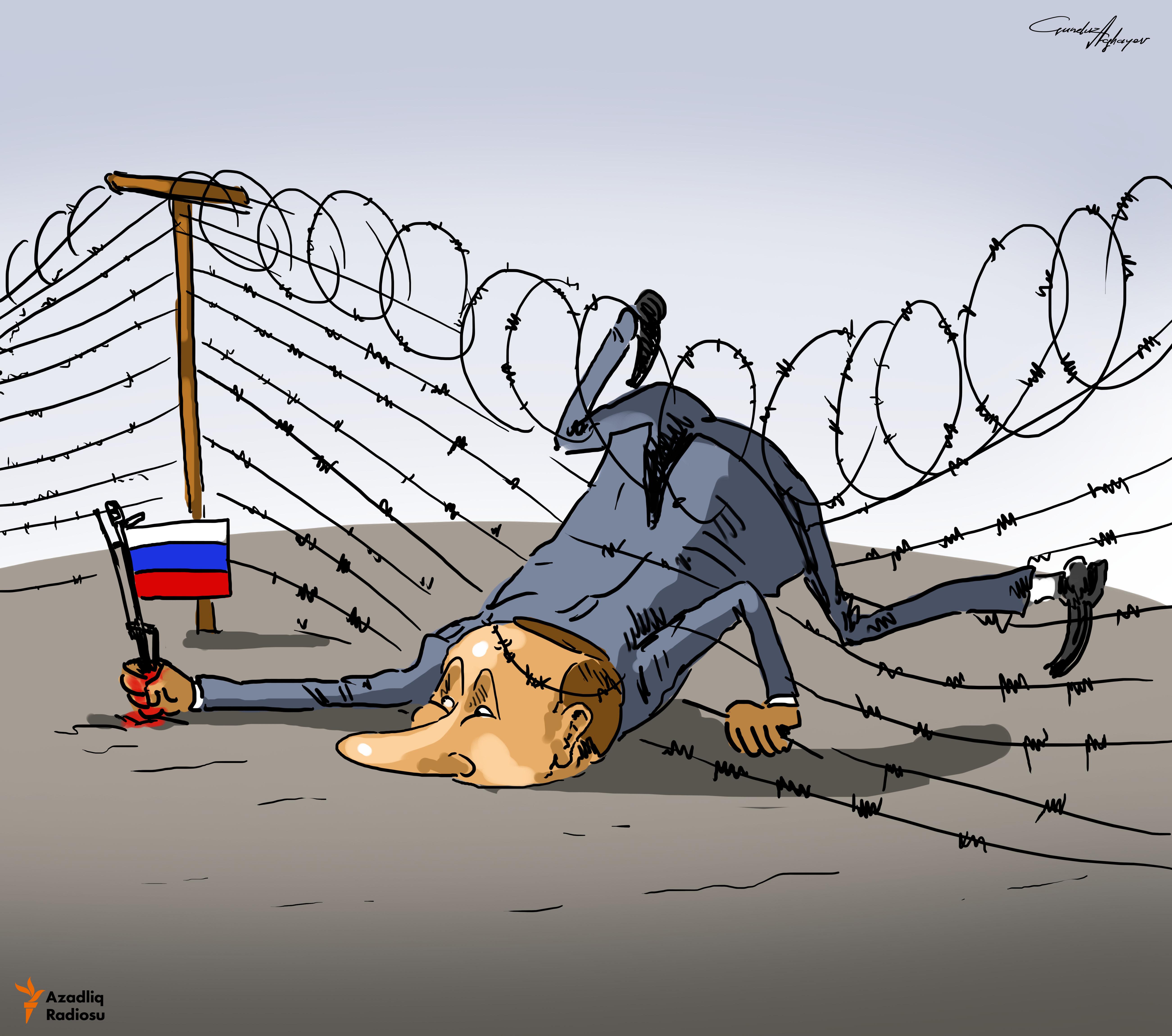 «Rusiyanın sərhədləri heç yerdə bitmir» - Vladimir Putin.
