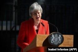 Премьер-министр Великобритании Тереза Мэй объявляет о своей отставке. Лондон, 24 мая 2019 года