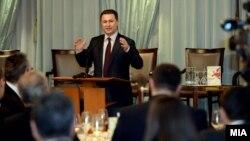 Премиерот Никола Груевски со владина делегација на бизнис форум во Франкфурт.