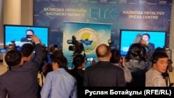 Телевизионные дебаты с участием представителей политических партий. Астана, 16 марта 2016 года.