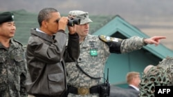 Американскиот претседател Барак Обама при посетата на Јужна Кореа