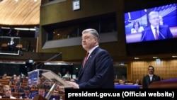 Președintele ucrainean Petro Poroșenko la APCE