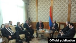 Встреча президента Армении с сопредседателями МГ ОБСЕ (архив)