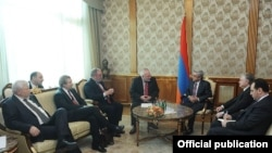 Armenia - President Serzh Sarkisian meets with the co-chairs of the OSCE Minsk Group in Yerevan, 5Nov2013.