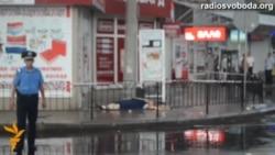 Погибшая женщина около ж/д вокзала Донецка