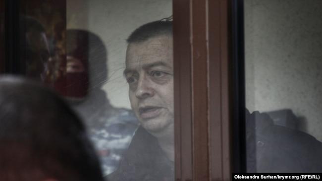 Джемиль Гафаров на заседании подконтрольного России Киевского райсуда в Симферополе