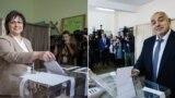 Лидерката на БСП Корнелија Нинова и лидерот на ГЕРБ Бојко Борисов, двете партии со најголема поддршка според испитувањата на јавното мислење