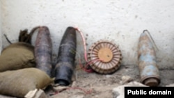 The soldiers were killed by blasts from improvised explosive devices like these.