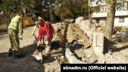 Благоустройство дворов в Симферополе, 2020 год