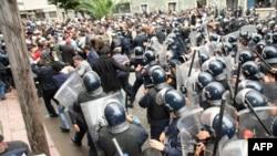 Сутыкненьні дэманстрантаў з паліцыяй у Касабланцы 13 сакавіка, 2011