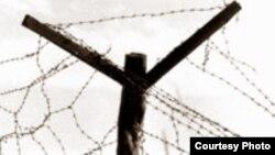 Ограждение из колючей проволоки. Фото с сайта www.karlag.kz