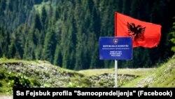 Granica sa Crnom Gorom, kako ju je pokret Samoopredeljenje obeležio