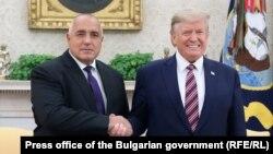 Премиерът Бойко Борисов и американският президент Доналд Тръмп в Белия дом