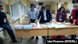 Подсчет голосов на УИК 498 в Нефтекамске