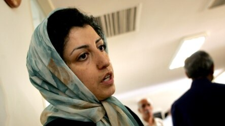 Narges Mohammadi was arrested on May 5 at her home in Tehran, according to her husband. (file photo)