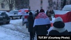 Protest aksiýasy, Minsk, 17-nji ýanwar, 2021