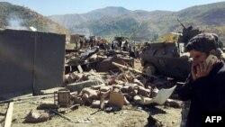 Pamje pas sulmit të sotëm vetëvrasës me makinë bombë në provincën Hakari në Turqi