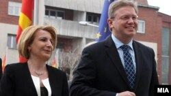 Средба на вицепремиерот Теута Арифи и комесарот за проширување и соседска политика на ЕУ, Штефан Филе