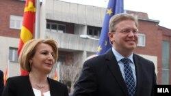 Средба на vицепремиерот Теута Арифи и комесарот за проширување и соседска политика на ЕУ, Штефан Филе