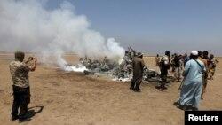 На місці збиття російського вертольота в Сирії, 1 серпня 2016 року