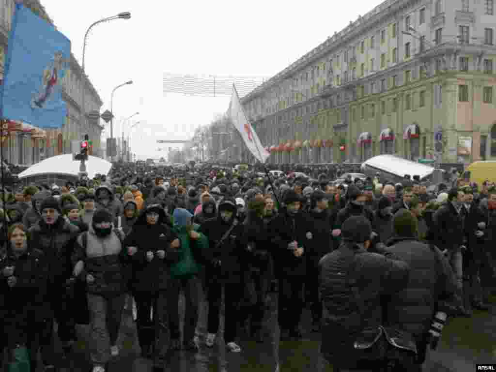 Мітынг прадпрымальнікаў у Менску, 10 студзеня