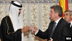 Претседателот Ѓорге Иванов и Емирот од Катар, Шеик Хамад Бин Калифа Ал Тани.