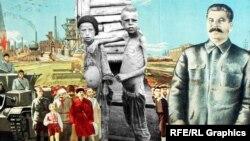 Иосиф Сталин. Иллюстративный коллаж.