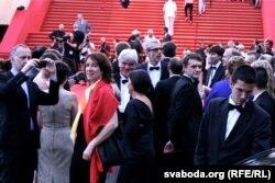 """Здымачная група """"У тумане"""" на """"чырвонай дарожцы"""" ў Канах"""