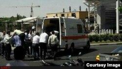 На месте нападения на парламент Ирана. Тегеран, 7 июня 2017 года.
