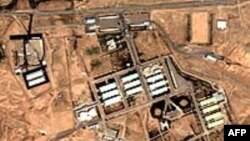 A satellite photo of Iran's Parchin nuclear facility