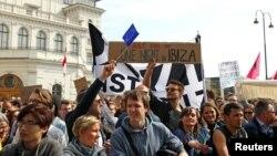 """Proteste la Viena după anunțul scandalului """"Ibizagate"""", 18 mai, 2019"""