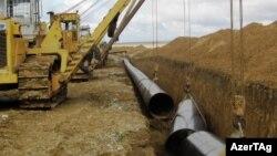 Azerbaijan -- water pipeline construction, 2010