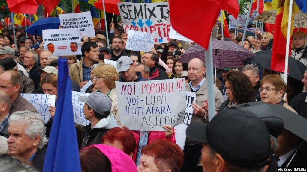 Протесты в Молдавии против изменений в избирательном законодательстве