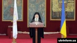 Вселенський патріарх Варфоломій I під час відвідин України у 2008 році