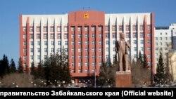 Памятник Ленину в столице Забайкалья