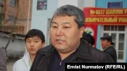Уволенный мэр Оша Мелис Мырзакматов во время местных выборов. Ош, 4 марта 2012 года.
